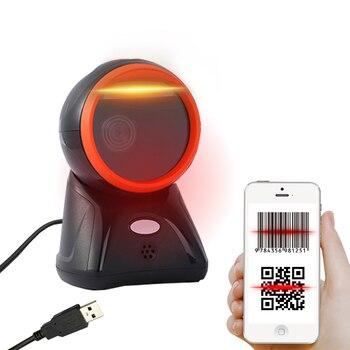 Barcode Scanner Desktop Platform Omnidirectional USB Wired Handsfree 2D Bar Code Reader POS flatbed Automatic Sensing Scanning