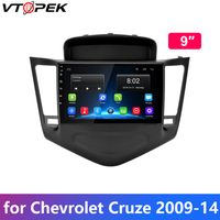 Vtopek Android Car Radio for Chevrolet Cruze 2009 2010 2011 2012 2013 2014 Multimedia Player 9 IPS Screen navigation 4G WIFI