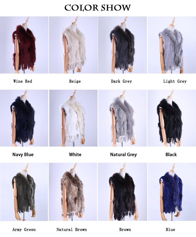 H55a4ad8bdce849b884abe884f48acd6dp Brand New Women's Lady Genuine Real Knitted Rabbit Fur Vests tassels Raccoon Fur Trimming Collar Waistcoat Fur Sleeveless Gilet