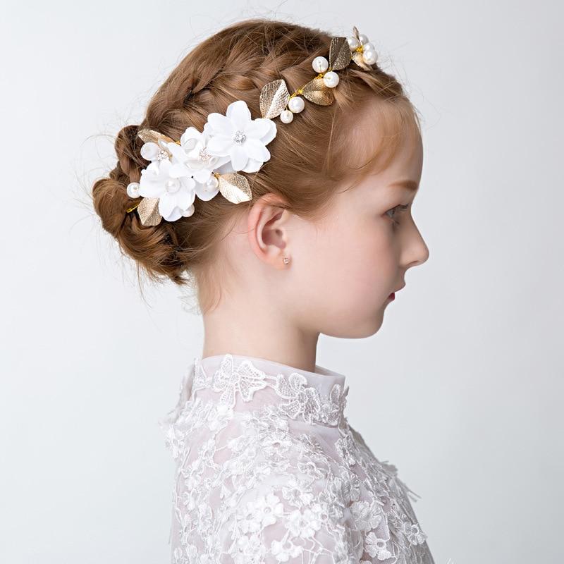 Princess Dress Accessories Flower Girl Wedding Hair Accessories Wreath Girls Birthday Women Gift Show Party Headwear Wholesale
