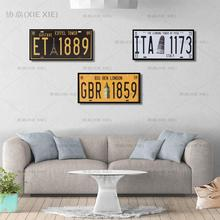 XIEXIE Car Plates Number License Tintin Tin Signs Bar Pub Up Garage Home Decor Stickers Metal Sign Poster Plaque Wall Painting [ wellcraft ] coffee cocktail love cake tea tin signs wall plaque custom metal painting antique gift bar pub decor lt 1704