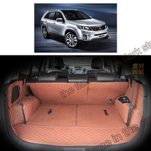 lsrtw2017 for kia sorento luxury leather car trunk mat cargo liner 2009 2010 2011 2012 2013 2014 2015 boot luggage rug carpet
