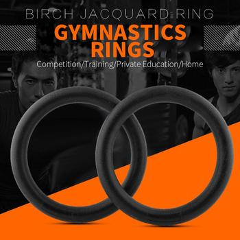 1pcs Wooden Birch Fitness Rings Gymnastics Training Competition Rings 28MM 32MM