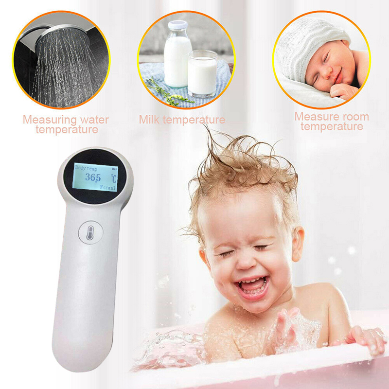 NEW Forehead Thermometer Gun Baby Kids Adults IR Intelligent Infrared IR Infrared LCD Digital Measuring Ear Temperature Detector