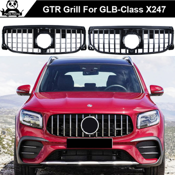 GT Grille Suitable for AMG X247 GLB Class for Mercedes Benz Front BumperGTR Grille ABS GLB-Class  GLB200 2019-2020 GTR style gri for mercedes benz gla x156 front grille silver abs gla45 amg gla180 gla200 gla250 without central logo front racing grille 14 16