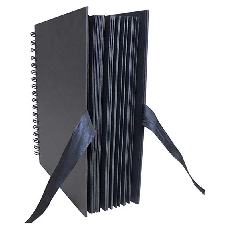 40 Pcs/80 Pages Black Paper Scrapbook Wedding Guest Book Diy Anniversary Travel Memory Scrapbooking Photo Album