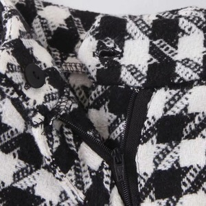 Image 5 - KZ915 الخريف الشتاء النساء شيك أسود أبيض اللون كتلة Houndstooth و السراويل جديد أزياء السراويل