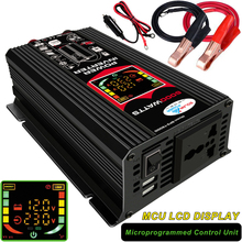 Pico 6000w 12v a 220v/110v conversor de potência do carro inversor carregador adaptador 2usb transformador tensão modificado onda senoidal display led