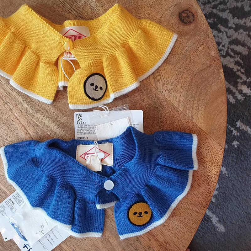 Korea Mooie Peuter Meisjes Nep kraag Accessoires Leuke Bebe De Pi ** Kids Meisje Ruche Kraag Glimlach Gezicht Meisje Alle accessoires