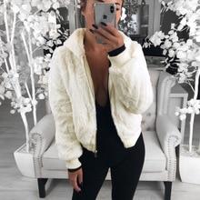 Faux Fur Jacket Womens Harajuku Full Wide-waisted White Fashion Girls Plus Size Coats Fur Coat Korean 90s Female Jackets
