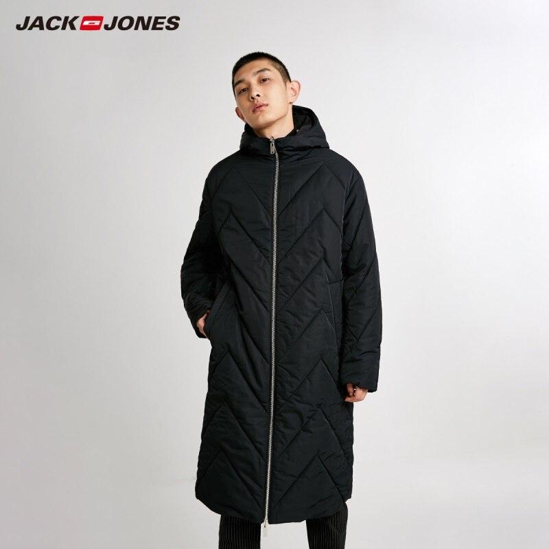 JackJones Men's Reversible Hooded Parka Coat Long Padded Jacket Menswear 218409505