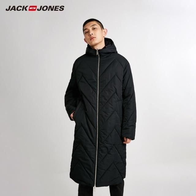 Jackjones 남자의 뒤집을 후드 파카 코트 긴 패딩 자켓 남성복 218409505