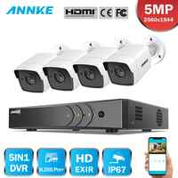 ANNKE H.265 + 5MP Ultra HD 8CH DVR CCTV Security System 4PCS IP67 Weaterproof Outdoor 5MP Kamera Video Überwachung kit