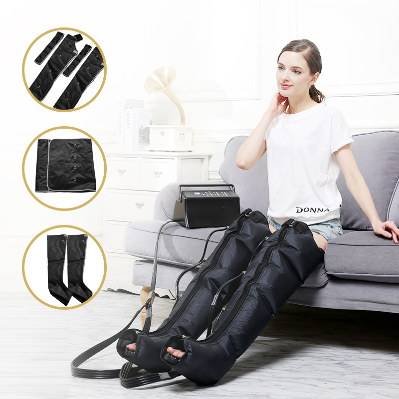 Infrared Therapy Air Compression Leg Foot Massager Arm Waist Circulation Pneumatic Air Wraps Relax Pain Relief