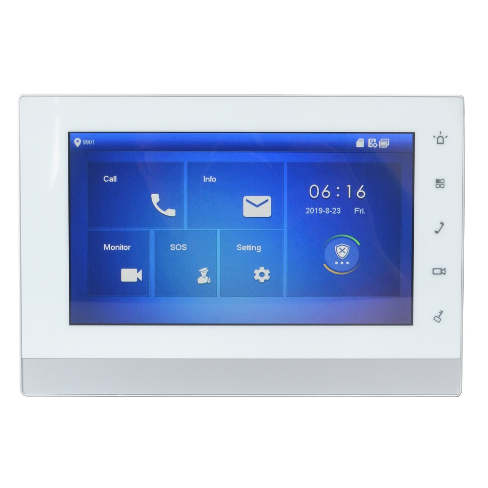 Logotipo Multi-Idioma VTH1550CH 7 DH-polegada Toque Monitor Interno, verision Internacional, IP campainha, vídeo Porteiro, campainha com fio