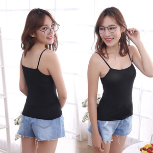 Image 4 - Womens Sexy Tank Tops Female Slim Sleeveless Casual Vest Camisole Solid Color Crop Top for Ladies Fitness Vest Black White Tank