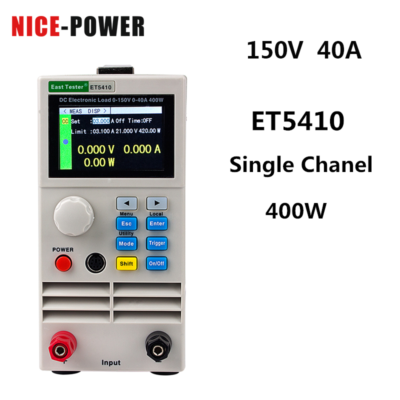 Send From Eu Et5410 Digital Dc Electronic Load Battery Tester Professional Programmable Load Electrical Meter 150v 40a 15a 20a