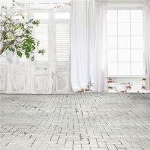 Nitree תמונה סטודיו אבזרי רקע מקורה בציר לבן דלתות וחלונות פרחים ויניל רקע עבור דיוקן צילום