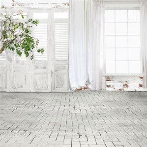Image 1 - Nitree תמונה סטודיו אבזרי רקע מקורה בציר לבן דלתות וחלונות פרחים ויניל רקע עבור דיוקן צילום
