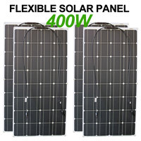 solar panel 100w 4pcs flexible 400w solar panels charger 12 volt for portable generator/home roof