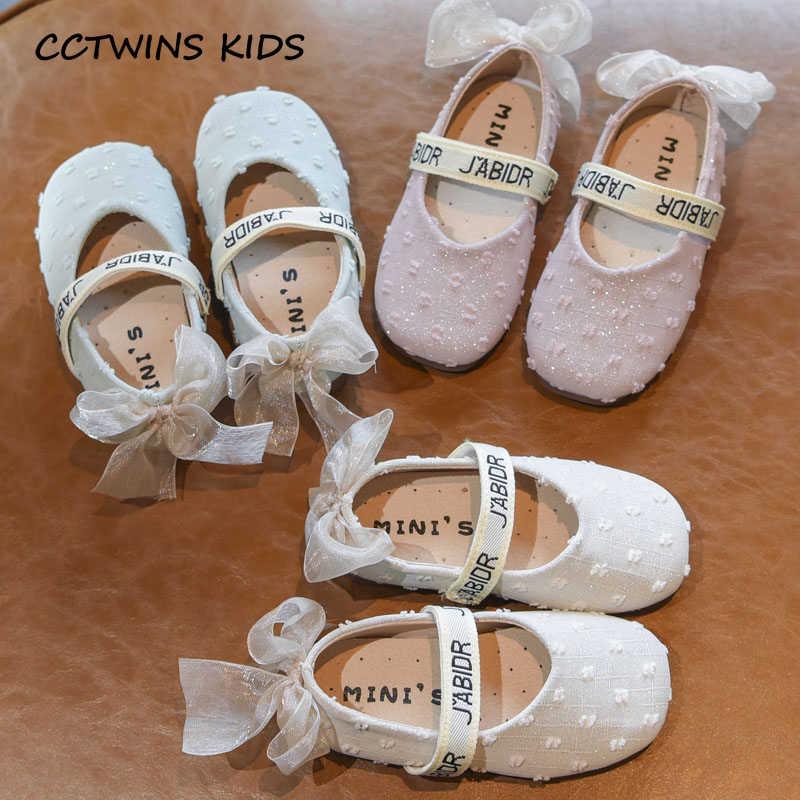 Çocuk Ayakkabı 2019 Sonbahar Çocuklar Pu deri ayakkabı Küçük Kızlar Yeni Tatlı Dantel Papyon Mary Jane Daireler Yürümeye Başlayan Moda Pembe Elbise ayakkabı