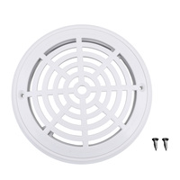 10Pcs Replacement Cover Main Drain Swimming Pool Accessary With Screws White
