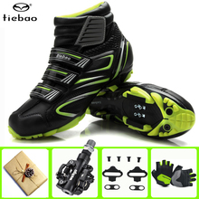 цена на TIEBAO Cycling Shoes sapatilha ciclismo mtb Winter Men sneakers Women bicicleta mountain bike Shoes Warm Sports Bicycle Shoes