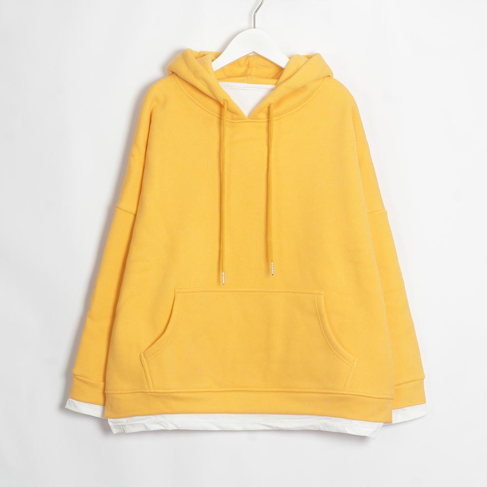 Wixra Women Casual Sweatshirts Warm Velvet Long Sleeve Oversize Hoodies Tops 2019 Autumn Winter Pullover Tops 16