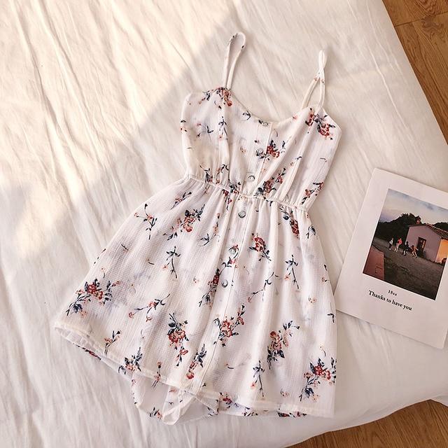 Floral Jumpsuits Women Beach Shorts Rompers New Summer Bohemian Print Overalls Fashion Women Slim High Waist Playsuits Femme 5