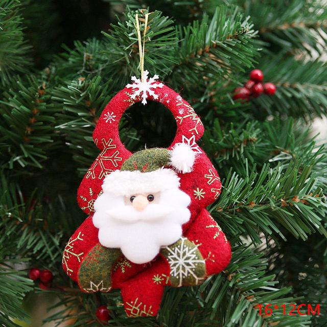 New Year 2020 Cute Santa Claus/Snowman/Angel Christmas Dolls Noel Christmas Tree Decoration for Home Xmas Navidad 2019 Kids Gift 63