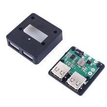 듀얼 USB 충전기 5V 20V ~ 5V 3A 최대 레귤레이터 태양 전지 패널 폴드 커버/전화 충전 전원 공급 장치 모듈 (승무원 포함)
