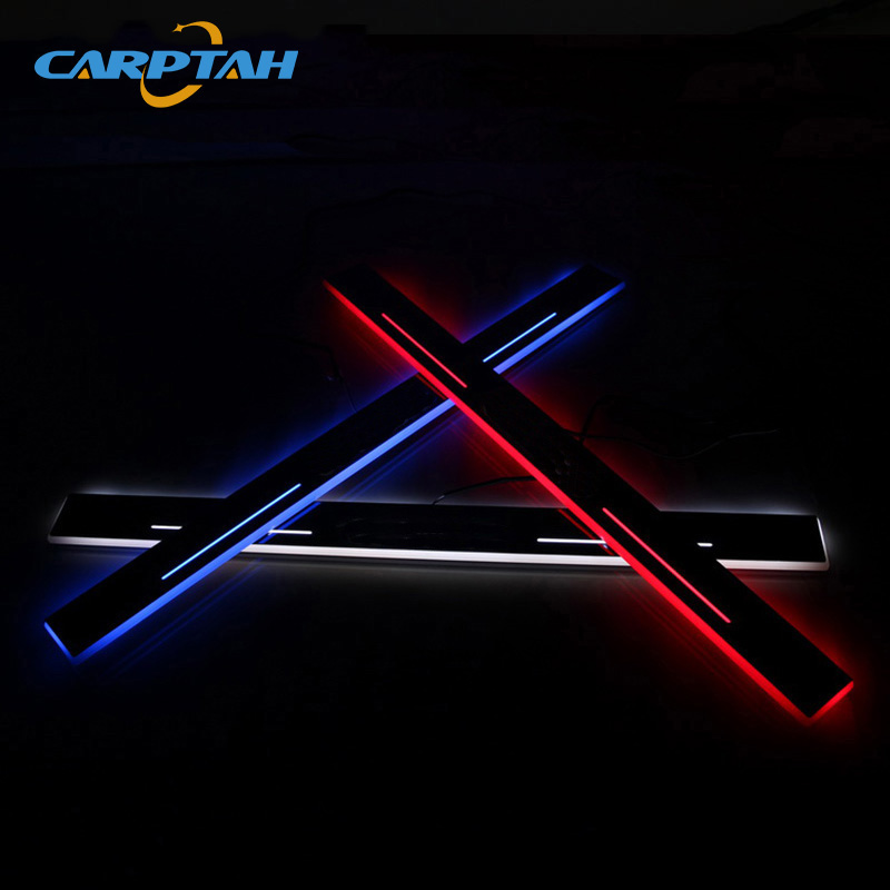 CARPTAH Trim Pedal Car Exterior Parts LED Door Sill Scuff Plate Pathway Dynamic Streamer light For Lexus IS200 IS250 IS300h