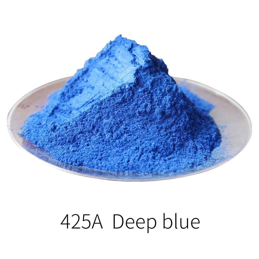 #425A Deep Blue Pearl Powder Pigment DIY Dye Colorant For Nail Decoration Soap Painting Car Arts Crafts 50g Mineral Mica Powder