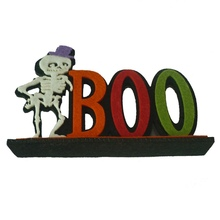 SPOOKY/BOO Felt Decorative Sign Halloween Letter Decorations Tabletop Ornaments Festive Party Supplies H