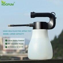 3000ML Große Kapazität Elektrische hand Spray Topf Tragbare Nebel Düse Gießkanne Sprayer Flasche Wasser Spray Gartenarbeit werkzeuge