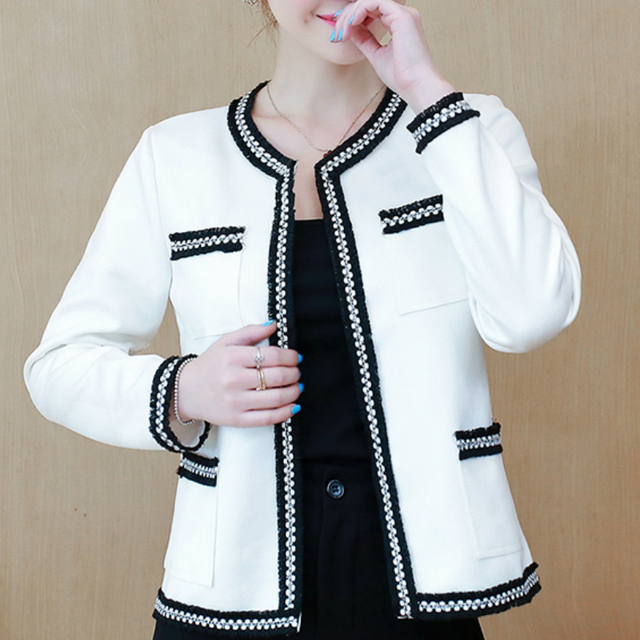 Women's Jackets 2021 Fashion  Autumn Jacket Women Long Sleeve White Coat Women Jacekts Coats And Jackets Women B888 1