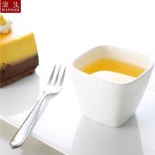 Маленькая квадратная закуска соус супер белая фарфоровая чашка