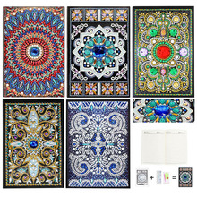 Fuyun 5D Diamond Painting Notebook Special Shaped mosaic Sale Mandala Picture Rhinestone Embroidery Flower
