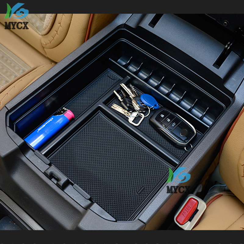2003-2019 Car Central Armrest Console Organizer Storage Box For <font><b>Toyota</b></font> Land Cruiser <font><b>Prado</b></font> 120 <font><b>FJ120</b></font> FJ 120 FJ150 150 <font><b>Accessories</b></font> image