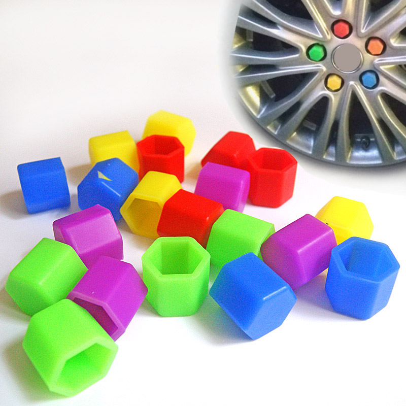 20pcs/set Universal <font><b>Car</b></font> <font><b>Wheel</b></font> Hub Screw Caps Protective <font><b>Cover</b></font> luminous <font><b>Nut</b></font> Caps <font><b>Car</b></font> Styling glow <font><b>Silicone</b></font> rubber <font><b>Nut</b></font> cap <font><b>Cover</b></font> image