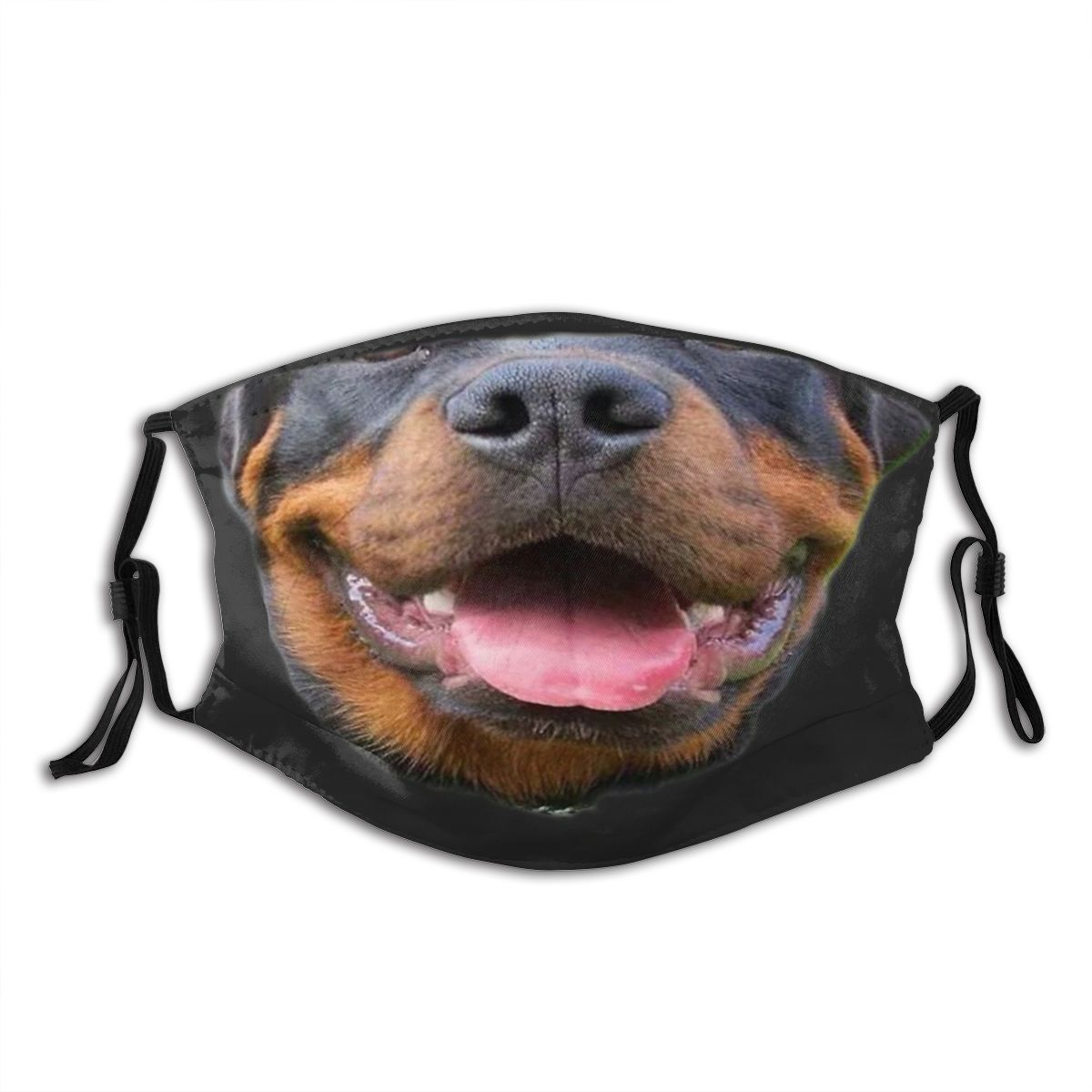 Rottweiler Doggo Reusable Mouth Face Mask Anti Bacterial Dust Mask With Filters Protection Mask Respirator Mouth Muffle