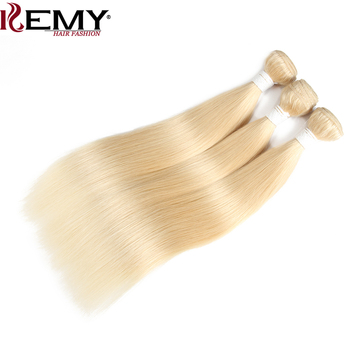 613 Blonde Hair Bundles KEMY HAIR Brazilian Straight Human Hair Weave Bundles 8 to 26 Inches Non-Remy Hair Extension 2/3 PCS