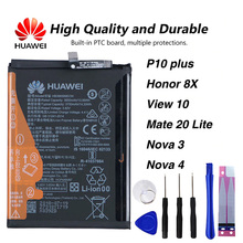 Original Huawei HB386589ECW P10 PLUS phone battery For Huawei P10 plus Honor 8X View 10 V10 Mate 20 Lite Nova 3 Nova4 3650mAh