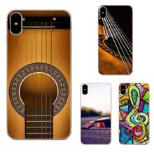 For Samsung Galaxy A01 A51 A71 Galaxy S20 Ultra S11 S11E S10 Plus Soft Fashion Mobile Phone Bass Guitar Strings Music(China)