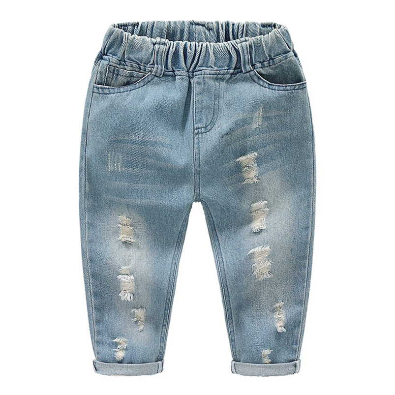Unisex Casual Patchwork Jean