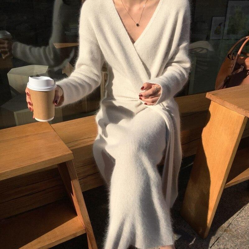 Rugod novo coreano com cinto longo camisola