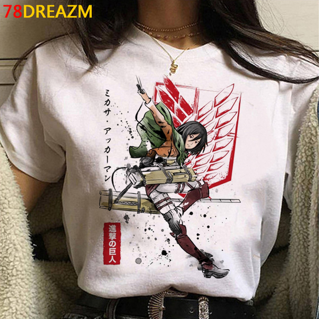 2021 Hot Anime Final Season  Attack on Titan T Shirt Men Kawaii Summer Tops Titans Attack Graphic Tees Levi Harajuku Tshirt Male 4