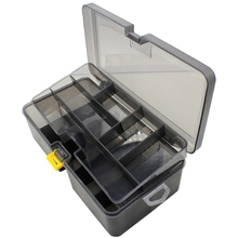 Double Layer Fishing Tackle Box Lures Bait Storage Case Orga