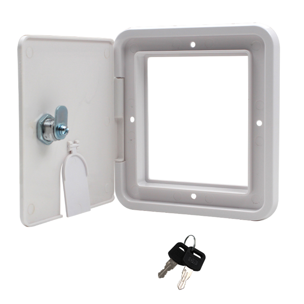Power Cord Hatch Electrical Access Door for RV Camper Trailer Motorhome Power Protection(China)