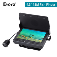 Eyoyo 15M 1000TVL Fish Finder Underwater Ice Fishing Camera Echo Sound 4.3 LCD Monitor Infrared IR LED Night Vision Camera